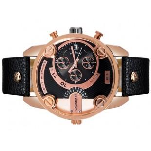 CAGARNY 6819 Unisex модно Большая Круглый циферблат аналогового наручные часы с календарем и усилителя; PU Группа