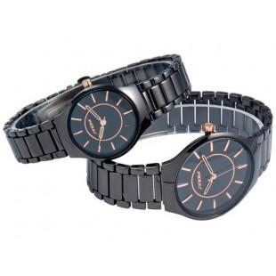 SINOBI 9442 парные часы для мужчины и женщины BLACK-GOLD (черный, золотой)