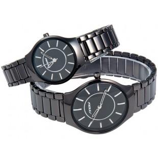 SINOBI 9442 парные часы для мужчины и женщины Black-Silver (черный, серебряный)