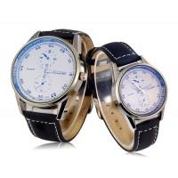 Купить DINIHO 5036A кварцевые аналоговые часы с кожаным ремешком