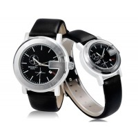 Момент 8021A круглый Циферблат аналоговые часы пара М.