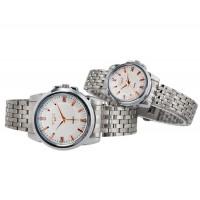 Купить МАЙК 8177 Модные парные  часы (белые)