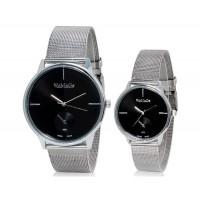 Модные WOMAGE 654 аналоговые пара часы (черный) М.