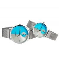 WOMAGE 654 Модные парные часы (синие)