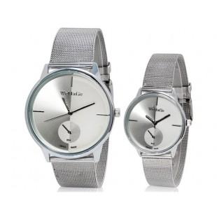 Модные WOMAGE 654 аналоговые пара часы (черный) М. артикул YW1515W