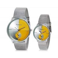 Модные WOMAGE 654 аналоговые пара часы (желтый) М.