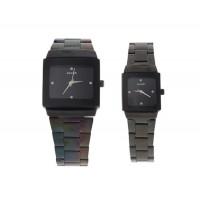 Wilon 2737 изысканный его и ее часы (черный)