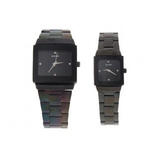 Wilon 2737 изысканный его и ее часы (черный) артикул YW321B