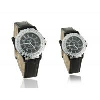 Купить Према 5233 Rounded нержавеющей стали Его и Ее электронные наручные часы с Crytal (черный)