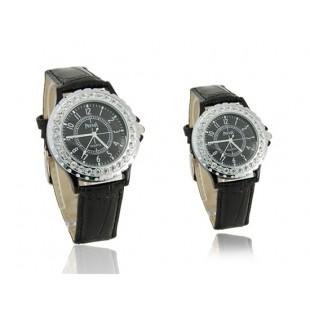 Према 5233 Rounded нержавеющей стали Его и Ее электронные наручные часы с Crytal (черный) артикул YW803B