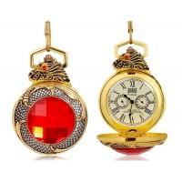 Красный Кристалл  Механические карманные часы