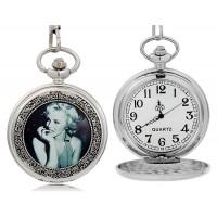 Монро  кварцевые карманные часы