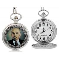 Ленин кварцевые  карманные часы