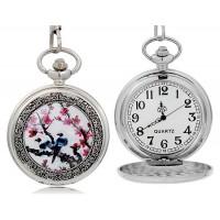 Цветок и Птица  карманные Часы