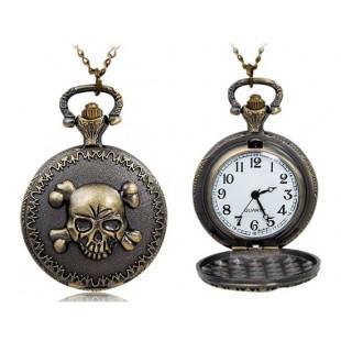 Череп  карманные часы