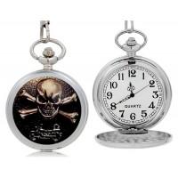 Череп карманные аналоговые часы