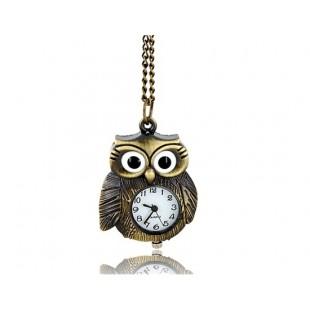 Сова форме ожерелья Часы