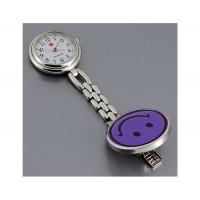 Стиль Медсестра Кварцевые часы с зажимом (фиолетовый)