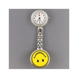 Стиль Медсестра Кварцевые часы с зажимом (желтый)