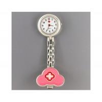 Стиль Медсестра Кварцевые часы с Clip (розовый)