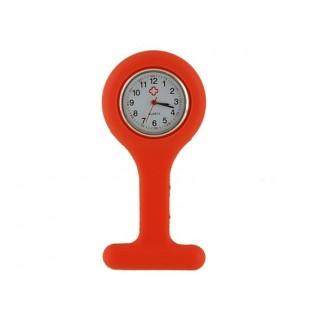 Силиконовые   часы с Брошь (оранжевый)