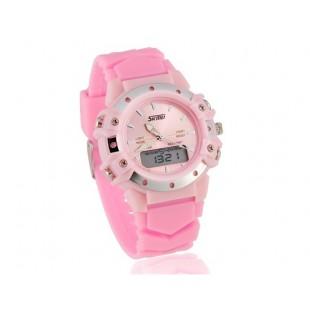 SKMEI наручные часы с календарем, секундомером (розовый)