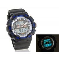 Купить мужские Стильные водостойкие Аналоговые и цифровые часы (синие)