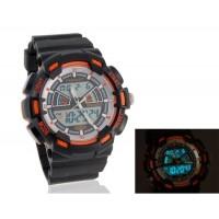 Купить мужские Стильные водостойкие Аналоговые и цифровые часы (оранжевый)