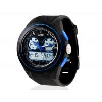 Купить SKMEI 0957 Аналоговые и цифровые спортивные часы с пластиковый ремешок (синие)