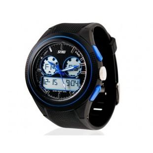 SKMEI 0957 Аналоговые и цифровые спортивные часы с пластиковый ремешок (синие)