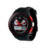 SKMEI 0957 Аналоговые и цифровые спортивные часы  пластиковый ремешок (красные)