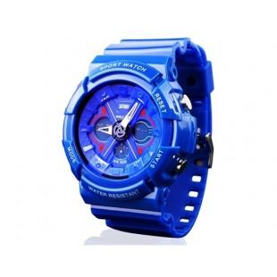 Skmei 0966 5ATM  часы с пластиковым ремешком (синие)