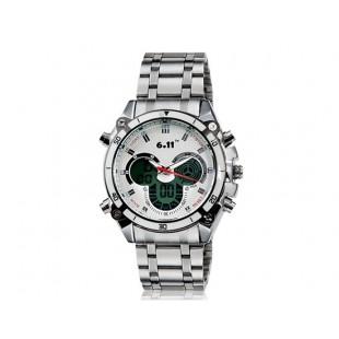 мужские 551B Dual Watch с будильником и подсветкой (белые)