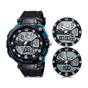 Так AK1391 50m водонепроницаемые спортивные часы с силиконовым ремешком (синие)