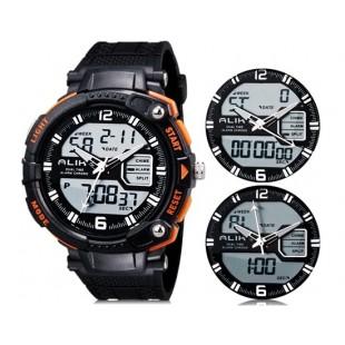 Так AK1391 50m водонепроницаемые спортивные часы с силиконовым ремешком (оранжевый)