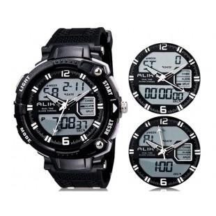 Так AK1391 50m водонепроницаемые спортивные часы с силиконовым ремешком (белые)