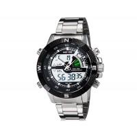 WEIDE 1104 мужские 30 м водонепроницаемые Аналоговый и цифровой дисплей спортивные часы (черные)