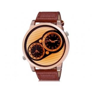 мужские  Аналоговые часы (коричневый)