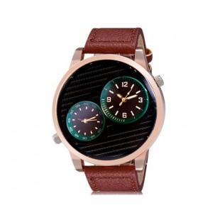 мужские Аналоговые часы с кожаный ремешок (коричневый)