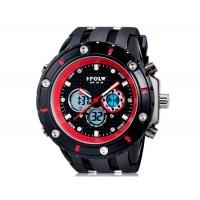 Купить HPOLW 592 Дайвинг часы с силиконовым ремешком (красные)