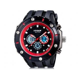 HPOLW 592 Дайвинг часы с силиконовым ремешком (красные)