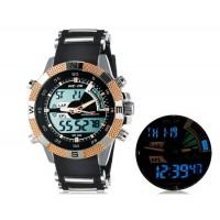 Weide 1104 Водонепроницаемые спортивные часы с нержавеющим браслетом (золото)