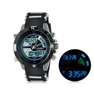Weide 1104 Водонепроницаемые спортивные часы с нержавеющим браслетом (синие)