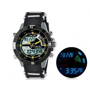 Weide 1104 Водонепроницаемые спортивные часы с нержавеющим браслетом (желтый)
