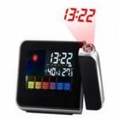 Обзор Часы-метеостанция с будильником и проектором времени