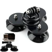 Купить Крепление-присоска тройная для экшн-камеры GoPro