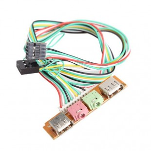 USB 2.0  Audio микрофон наушники 3.5 на переднюю панель аудио выход 2 порта USB микрофонный вход