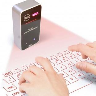 Беспроводная лазерная Bluetooth Клавиатура для ПК, Смартфонов и Айпадов
