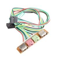 Передняя Панель для  USB Audio  Микрофон Наушники
