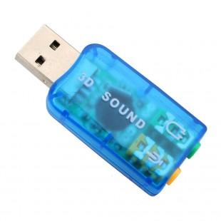 USB звуковая карта 5.1 с микрофонным входом для Ноутбука и Компьютера